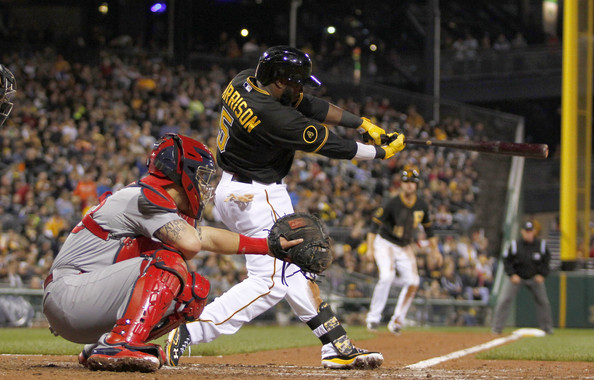 Harrison may very well have not deserved his NL ALL - Star selection last month, but he is totally on fire now - playing awesome baseball.  The Utility man for the Bucs is the latest MLB'er to hit Home Runs in 4 straight contests.  Harrison also went yard again last night.