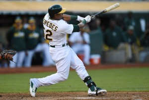 Yoenis  Cespedes won the 2013 MLB Home Run Derby and has stupid power when it comes to Bating Practice.  The 28 Year Old Cuban has crushed 63 HRs in 1365 AB during his time with the A's from 2012 - 2014.
