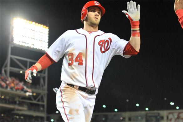 Since a near demotion a few weeks ago, Harper has really heated up including 7 HRs in August.  He hit 3 HRs over the weekend in his 1st visit to Safeco Field in Seattle.  Among those was Harper's 1st Multi HR Game since Apr.20, 2013.  The 21 Year Old Slugger now has 10 HRs on the year.